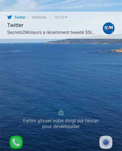 Une notification push sur mobile