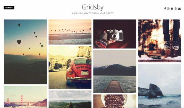 Portfolio WordPress Gridsby thème