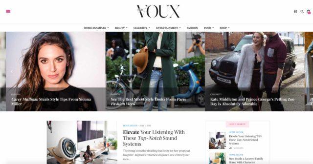The Voux est un thème WordPress pour blog