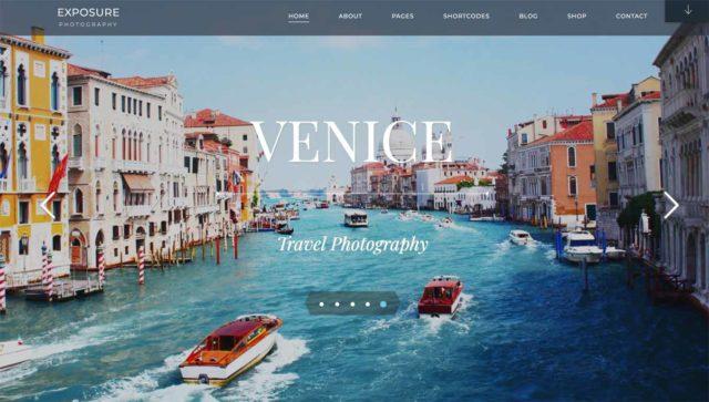Thème WordPress photo sobre, Venice permet d'exposer vos clichés