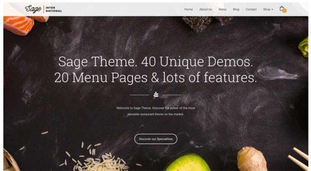 Sage template WordPress
