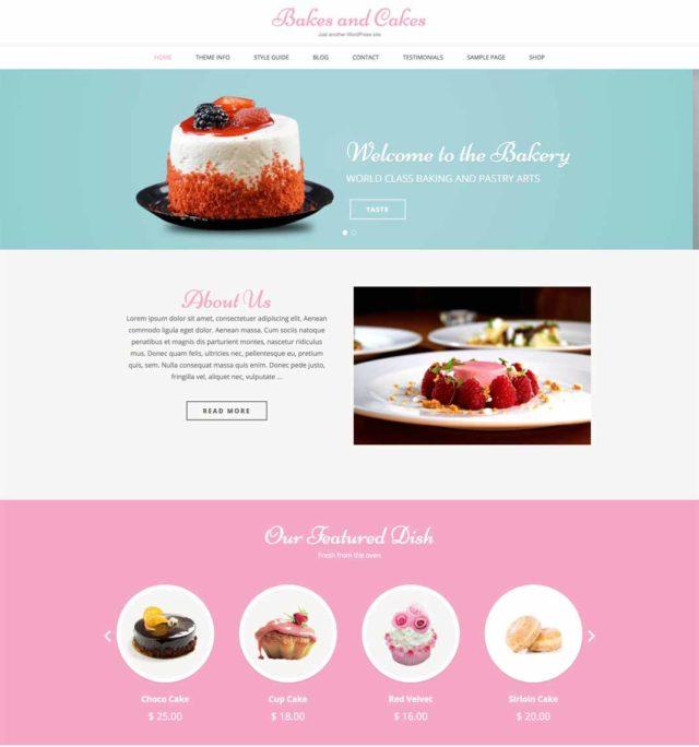 Bakes and cakes est un thème adapté aux pâtissiers