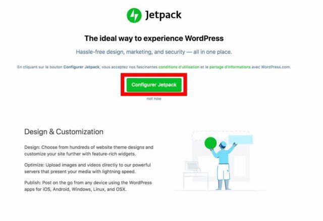 Configurer Jetpack