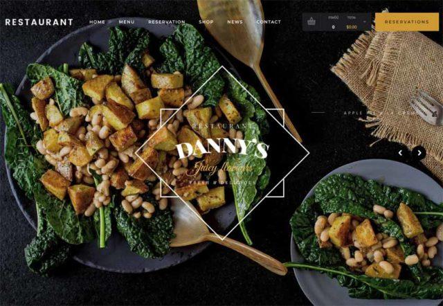 Dannys est un thème WordPress pour restaurant superbe