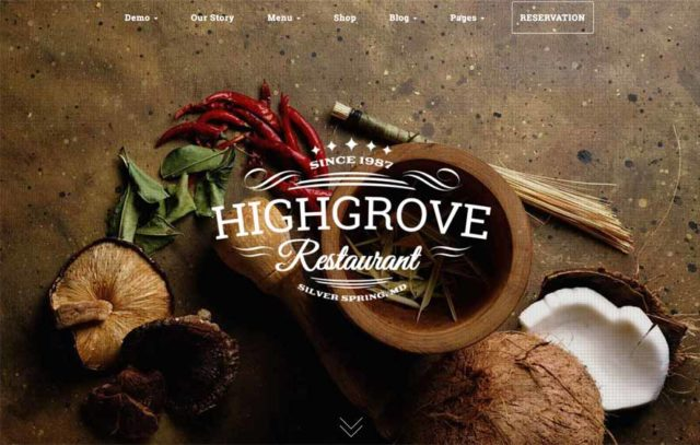 HighGrove et sa homepage