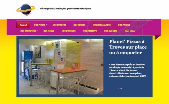 Intérieur du restaurant Planet Pizzas à Troyes