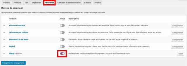 Intégrer BitPay sur WooCommerce