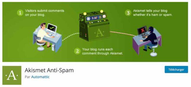 Akismet aide à lutter contre le spam