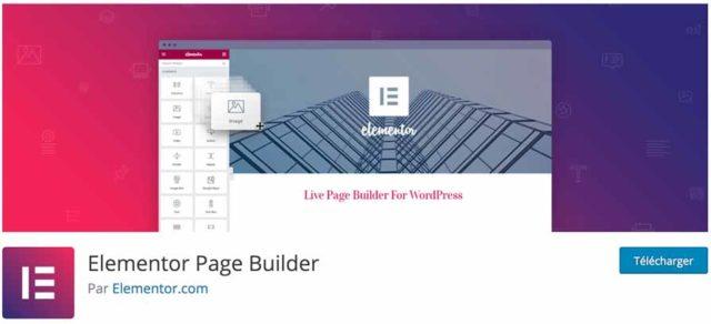 Elementor sur le répertoire officiel WordPress