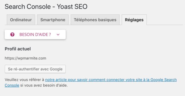 search console wpmarmite-yoast-seo