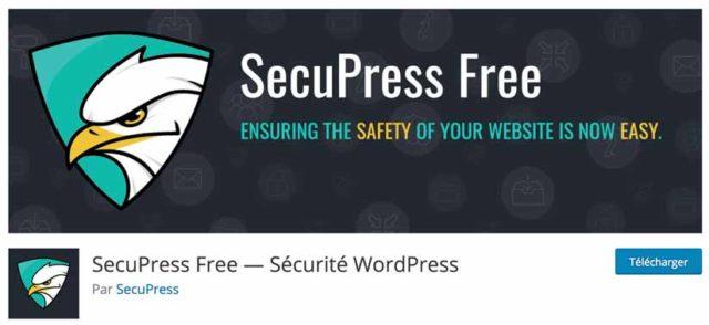 SecuPress est l'un des meilleurs plugins WordPress pour sécuriser son site
