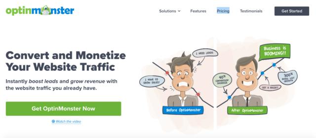 Capture d'écran du plugin OptinMonster