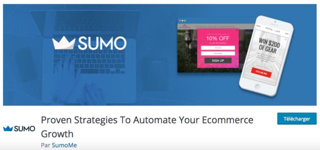 Sumo est un service de capture d'email pour WordPress, notamment