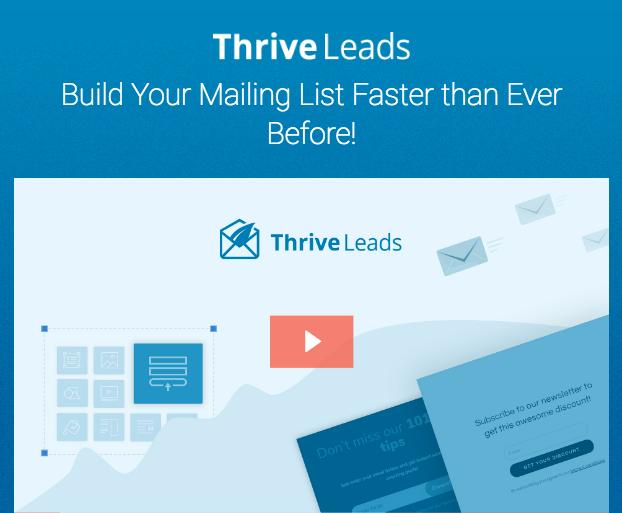 Thrive Leads est un formulaire de capture d'emails pour WordPress