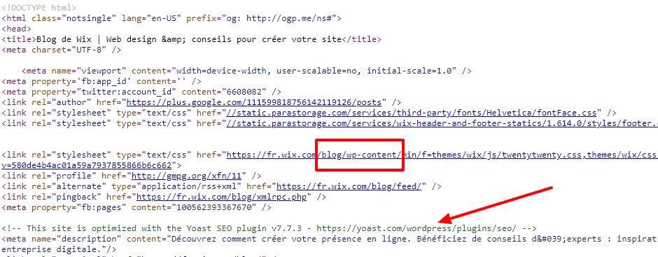 Aux dernières nouvelles, le blog de Wix tournait... sous WordPress
