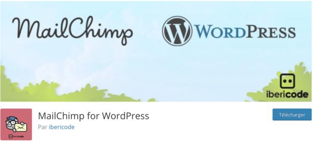 Le plugin MailChimp for WordPress