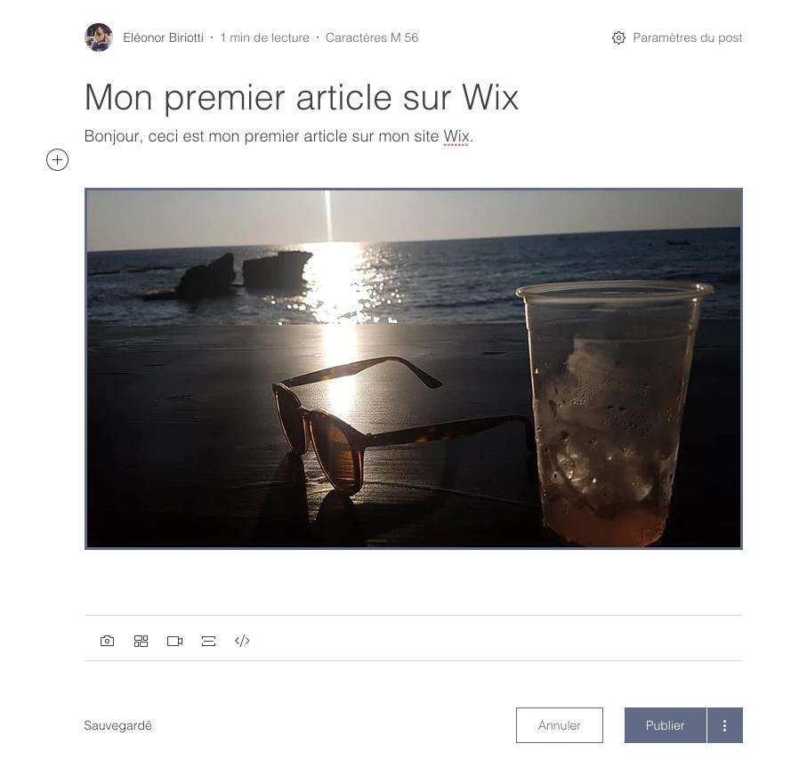 L'interface de blogging de Wix vs celle de WordPress