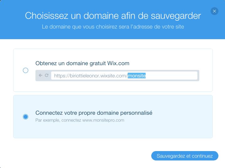 Sur Wix, il est très simple de connecter votre nom de domaine à votre tout nouveau site web