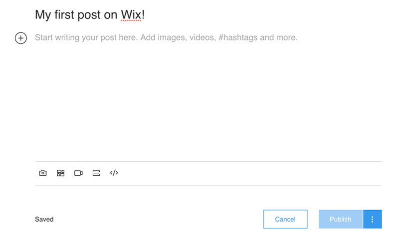Write a post on Wix