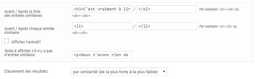 comment paramétrer YARPP plugin articles relatifs WP