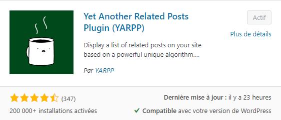 téléchargez YARPP dans le répertoire officiel de WordPress