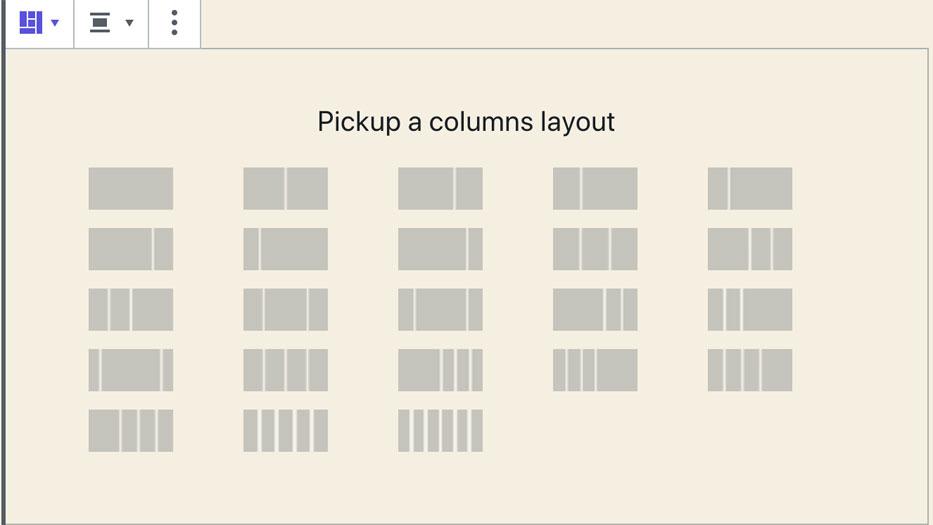 Mise en page des colonnes sur Advanced Gutenberg