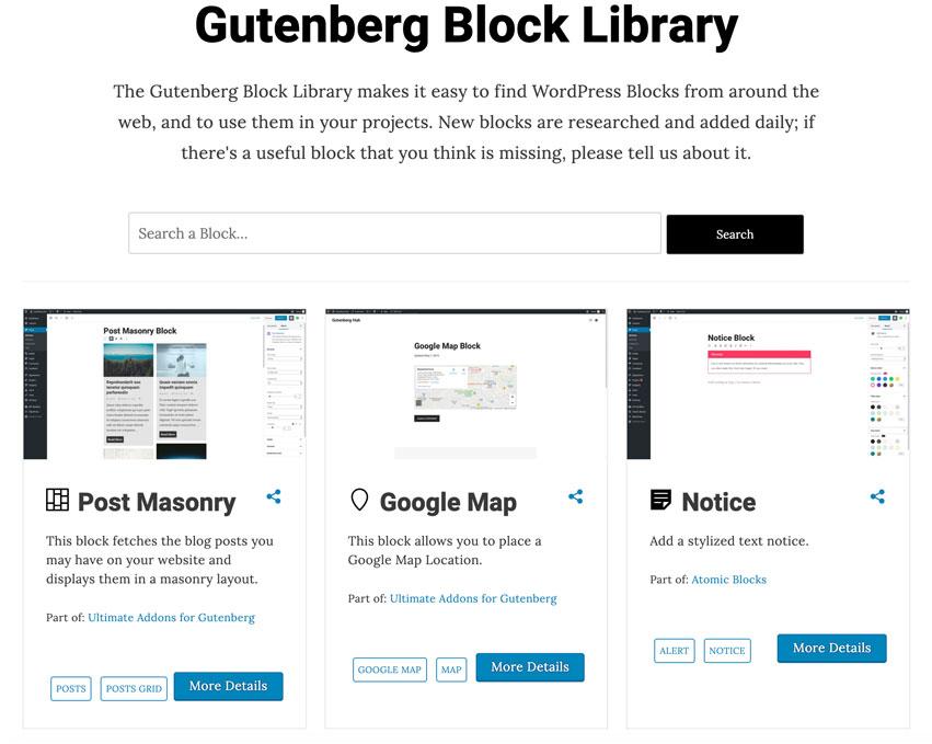 Gutenberg Block Library