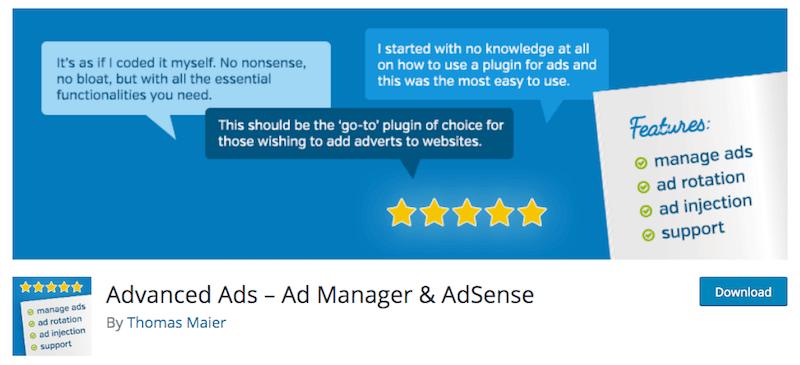 Mettre de la pub sur son site WordPress avec le plugin Advanced Ads