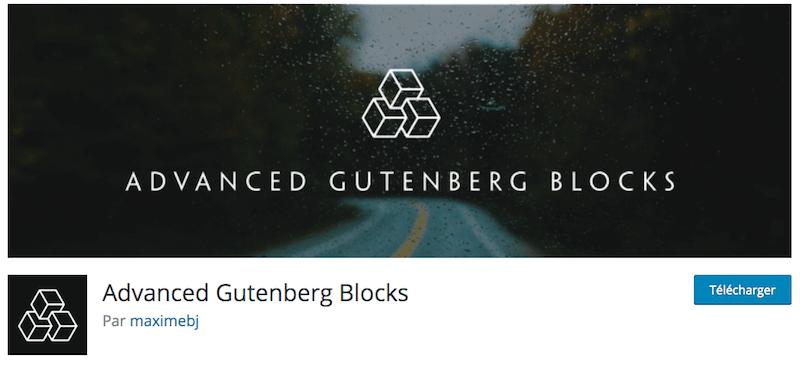 Le plugin Advanced Gutenberg Blocks propose un bloc spécial pour mettre de la pub sur WordPress