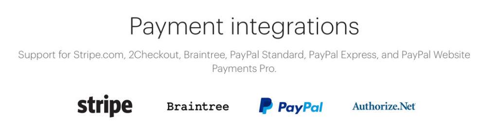 Restrict Content Pro intégrations des passerelles de paiement