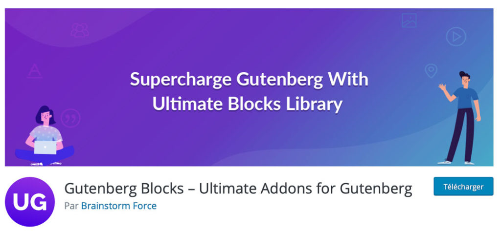 Ultimate Addons for Gutenberg sur WordPress