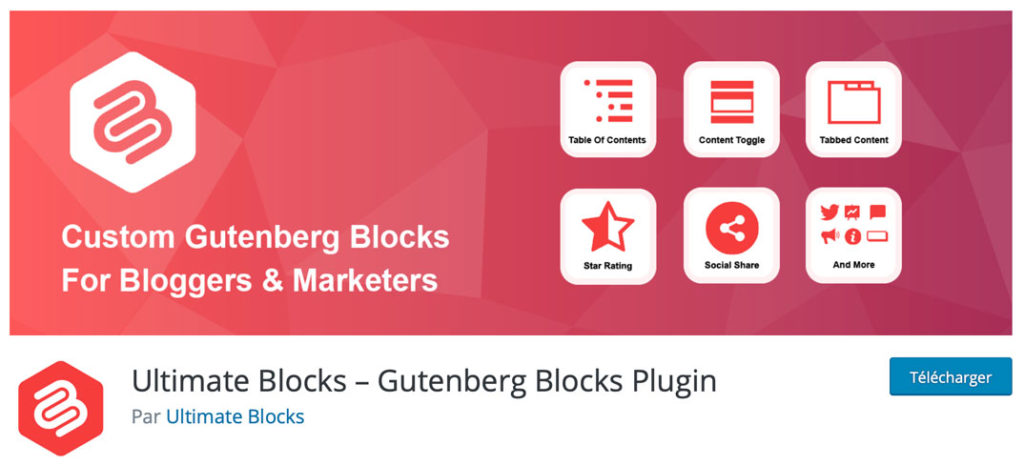 Ultimate Blocks, un plugin de blocs Gutenberg sur WordPress