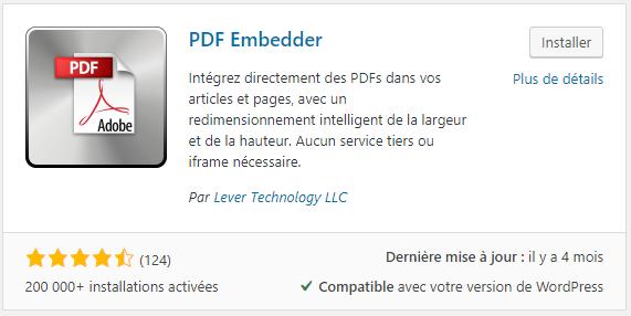 Le plugin pour mettre en valeur ses PDF sur WordPress : PDF Embedder