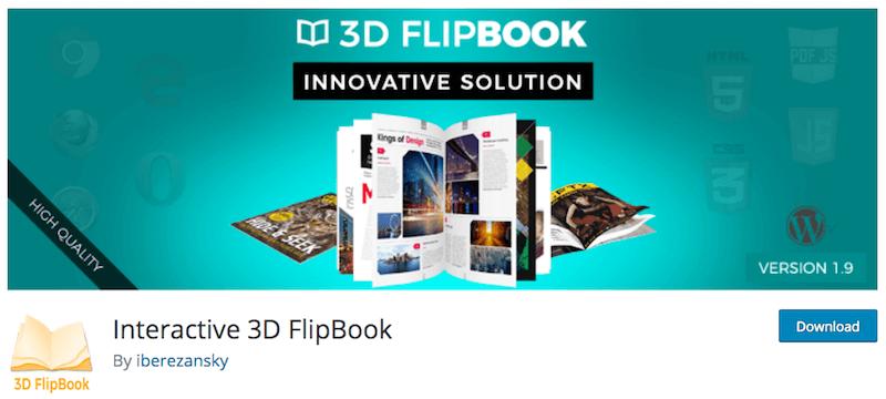 Le plugin Interactive 3D flipbook vous permet d'intégrer des PDF dans votre site web de manière originale