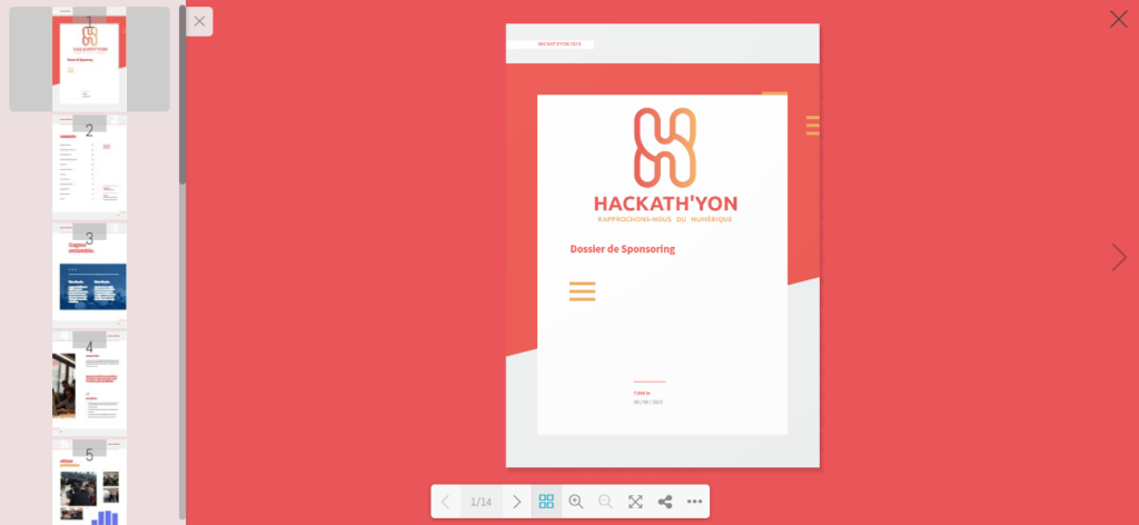 Un livre interactif créé via le plugin dFlip-3D Flipbook