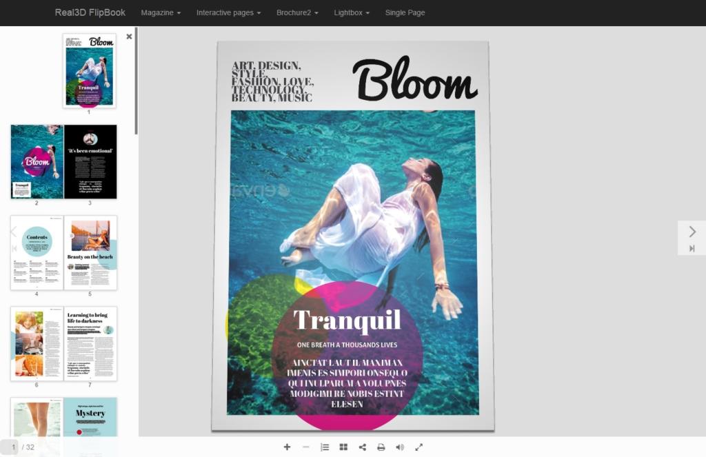 Un exemple de visionneuse PDF